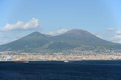 El monte Vesubio, Nápoles, Italia Imagen de archivo libre de regalías