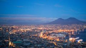 El monte Vesubio, Nápoles, Italia Foto de archivo libre de regalías