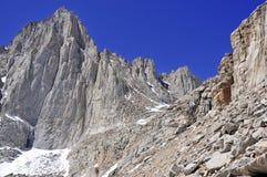 El Monte Whitney, California 14er y punto álgido del estado Foto de archivo