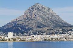 El Montgo. Mountain in Javea. Spain royalty free stock photography