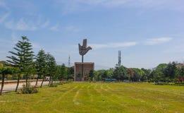 EL MONUMENTO ABIERTO DE LA MANO, CHANDIGARH, LA INDIA Imágenes de archivo libres de regalías