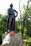 El monumento al comandante Alexander Suvorov en la ciudad de Mytischi Foto de archivo