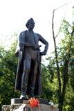 El monumento al comandante Alexander Suvorov en la ciudad de Mytischi Fotografía de archivo libre de regalías