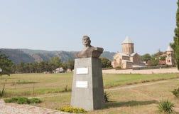 El monumento al luchador, al ejecutante de circo y a la película georgianos famosos Sandro Kandela imagen de archivo