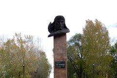 El monumento al piloto And Elkin - Rusia - Usole el 5 de octubre de 2017 fotografía de archivo