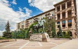 El monumento a Bagration en Moscú Imagen de archivo