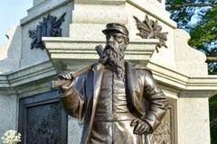 El monumento Brooklyn de los soldados de la guerra civil Imágenes de archivo libres de regalías