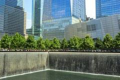El monumento de 9/11 Imágenes de archivo libres de regalías