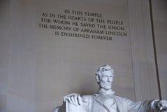 El Lincoln memorial Foto de archivo libre de regalías
