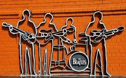 El monumento de Beatles en Ekaterinburg Imágenes de archivo libres de regalías