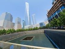 El monumento de 9/11 en New York City Foto de archivo