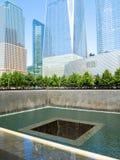 El monumento de 9/11 en New York City Imagenes de archivo