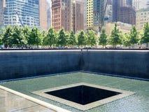 El monumento de 9/11 en New York City Fotos de archivo libres de regalías