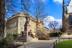 El monumento de Felix Mendelssohn Bartholdy imágenes de archivo libres de regalías