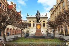 El monumento de Goethe de Leipzig foto de archivo
