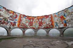 El monumento de la era soviética imágenes de archivo libres de regalías