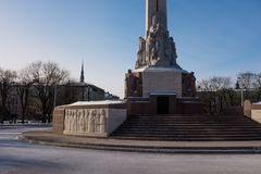 El monumento de la libertad en Riga Imagen de archivo libre de regalías
