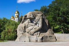 El monumento de la madre que se aflige Stalingrad, Rusia Fotografía de archivo libre de regalías