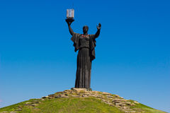 El monumento de la patria llama en la colina de la gloria, Cherkasy complejo conmemorativo, Ucrania Foto de archivo libre de regalías