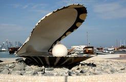 El monumento de la perla en Doha, Qatar Fotografía de archivo