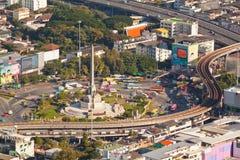 El monumento de la victoria es un monumento en Bangkok. Imagen de archivo libre de regalías