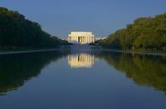 El monumento de Lincoln Imagenes de archivo