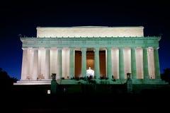 El monumento de Lincoln Fotografía de archivo