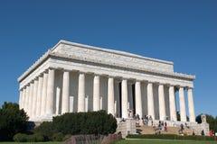 El monumento de Lincoln, opinión de Entance Fotos de archivo