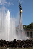 El monumento de los héroes del ejército rojo en Viena Imagen de archivo libre de regalías