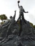 El monumento de los jugadores del rugbi Foto de archivo