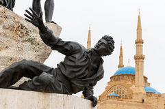 El monumento de los mártires Fotos de archivo libres de regalías