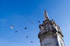 El monumento de Miguel Hidalgo Imagen de archivo