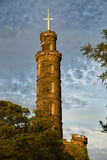 El monumento de Nelson en Edimburgo fotos de archivo libres de regalías