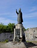 El monumento de papa Juan Pablo II imagen de archivo