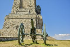El monumento de Shipka Foto de archivo