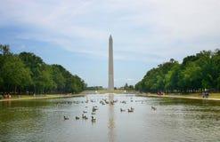 El monumento de Washington foto de archivo
