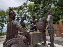 El monumento del acuerdo de la sangre, isla de Bohol, Visayas, Filipinas Imagen de archivo