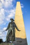 El monumento del Bunker Hill Imagenes de archivo