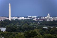 El monumento del capitolio y de Washington de los E.E.U.U. Imagen de archivo libre de regalías