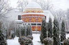 El monumento del huevo de Pascua en Kolomyia Fotografía de archivo