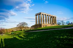 El monumento del natiional de Escocia en Carlton Hill foto de archivo libre de regalías