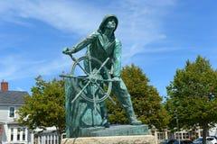 El monumento del pescador de Gloucester, Massachusetts Foto de archivo libre de regalías