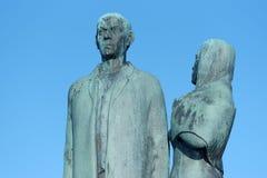 El monumento emigrante Fotos de archivo libres de regalías