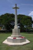 El monumento en el cementerio de la guerra de Kanchanaburi, Thailan Fotografía de archivo libre de regalías