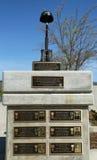 El monumento en el honor de soldados caidos perdió su vida en Iraq y Afganistán en los veteranos Memorial Park, ciudad de Napa Fotografía de archivo