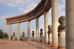 El monumento en la ciudad de Khujand, Tayikistán imagen de archivo
