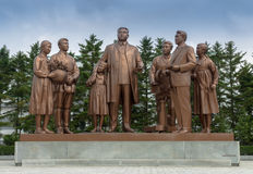 El monumento en los estudios cinematográficos de Pyongyang Fotografía de archivo libre de regalías