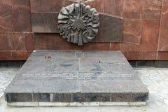 El monumento es una división de infantería del sepulcro total 45 de un nombre de S foto de archivo libre de regalías