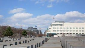 El monumento a los judíos asesinados de Europa en Berlín, Alemania almacen de video