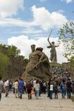 El monumento a luchar a los soldados de la muerte fotografía de archivo libre de regalías